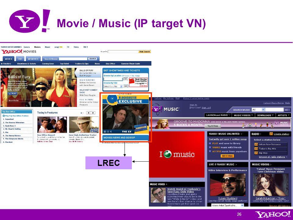 Movie / Music (IP target VN)