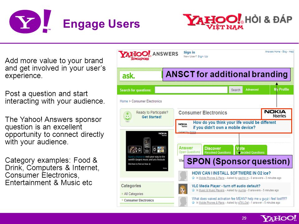 Engage Users ANSCT for additional branding SPON (Sponsor question)