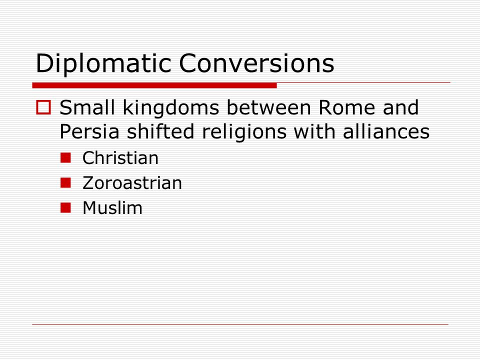 Diplomatic Conversions