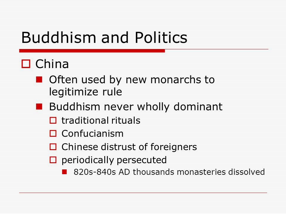 Buddhism and Politics China