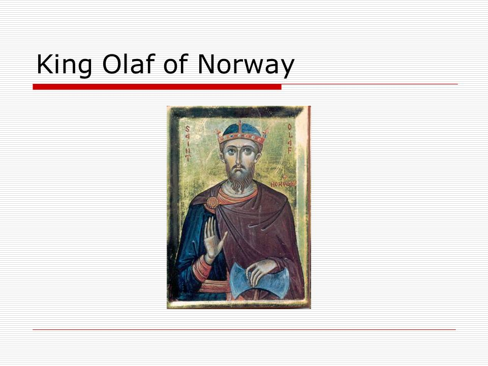 King Olaf of Norway