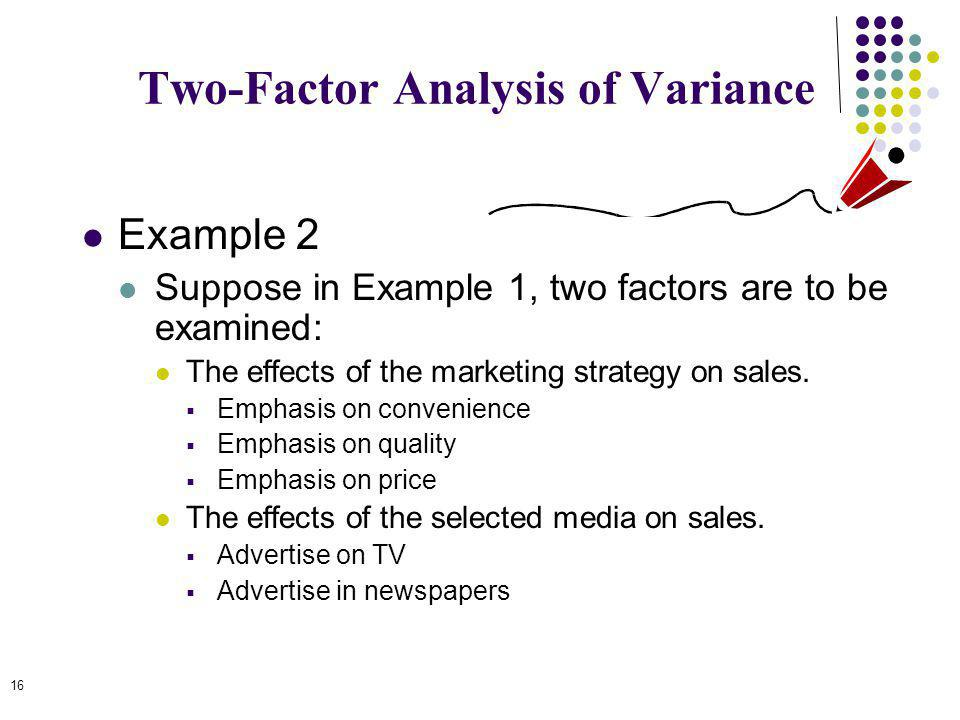 Two-Factor Analysis of Variance