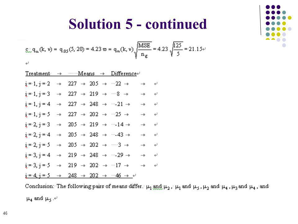 Solution 5 - continued