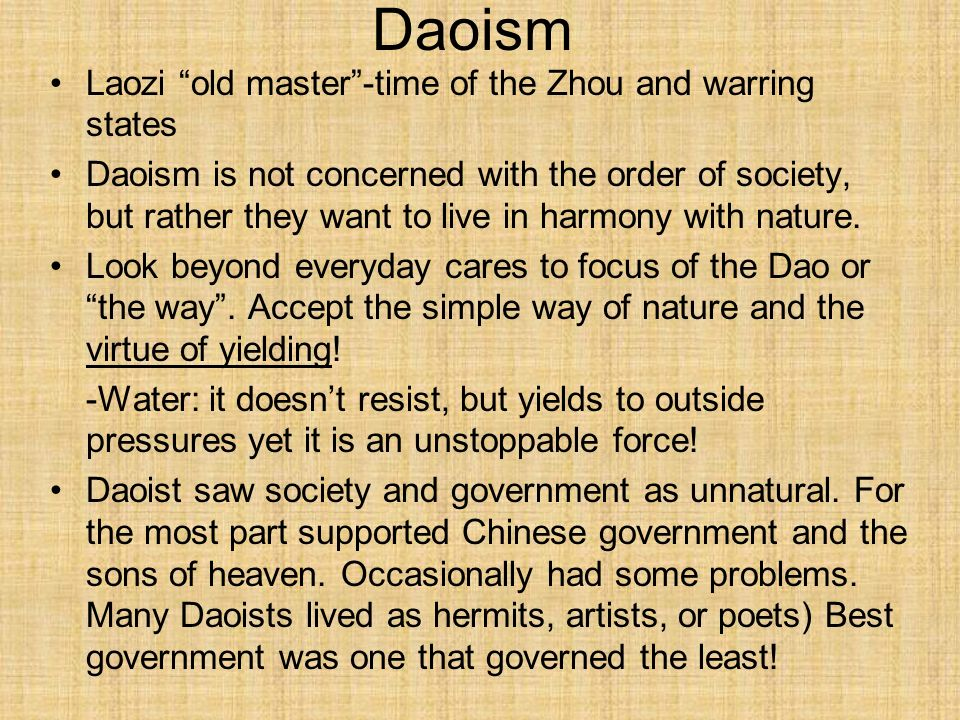 Daoism Laozi old master -time of the Zhou and warring states