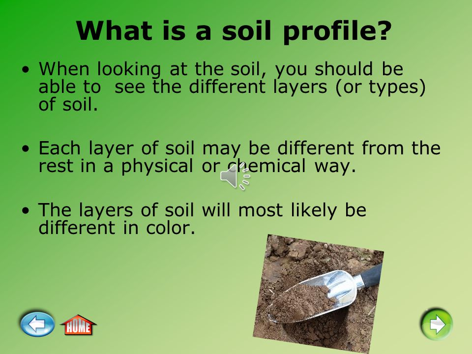 Horticulture science explaining a soil profile ppt video for Different uses of soil