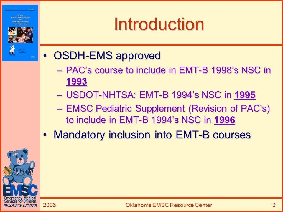 Oklahoma EMSC Resource Center