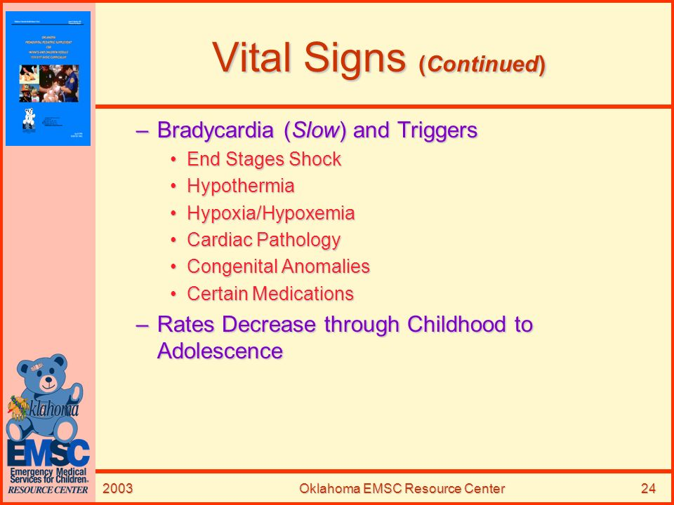 Vital Signs (Continued)