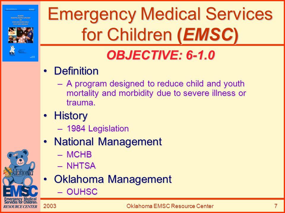 Emergency Medical Services for Children (EMSC)