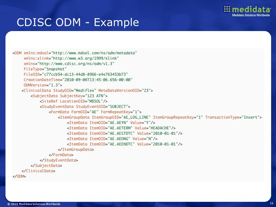 CDISC ODM - Example