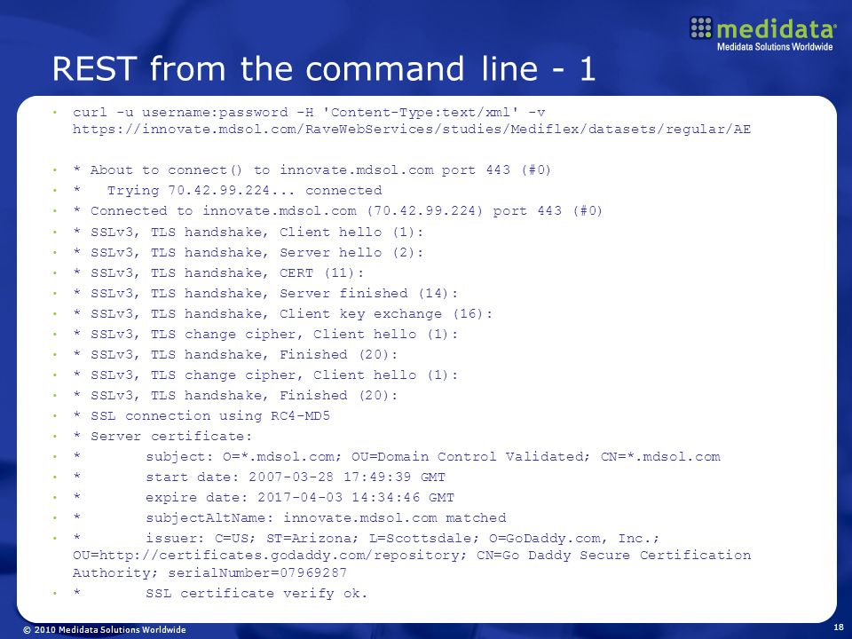 REST from the command line - 1