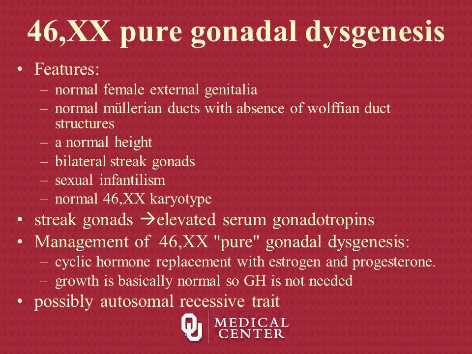 46,XX pure gonadal dysgenesis