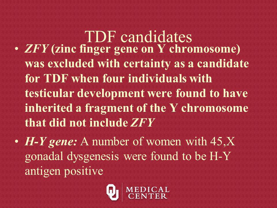 TDF candidates