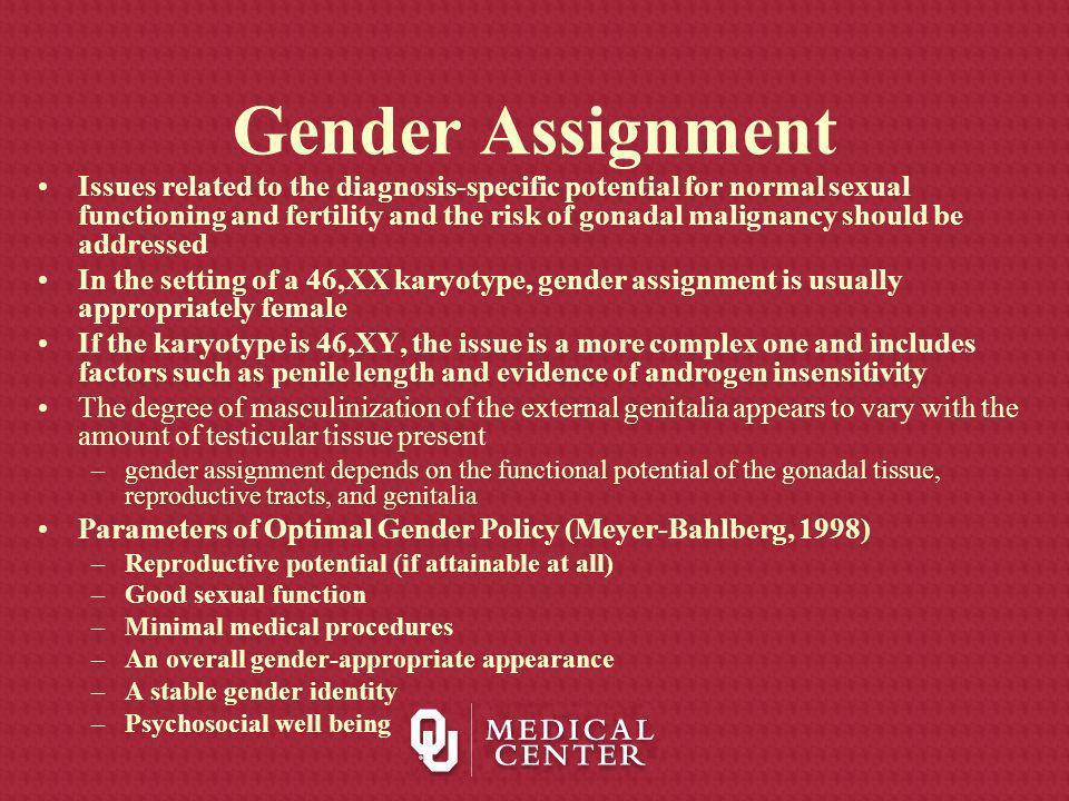 Gender Assignment