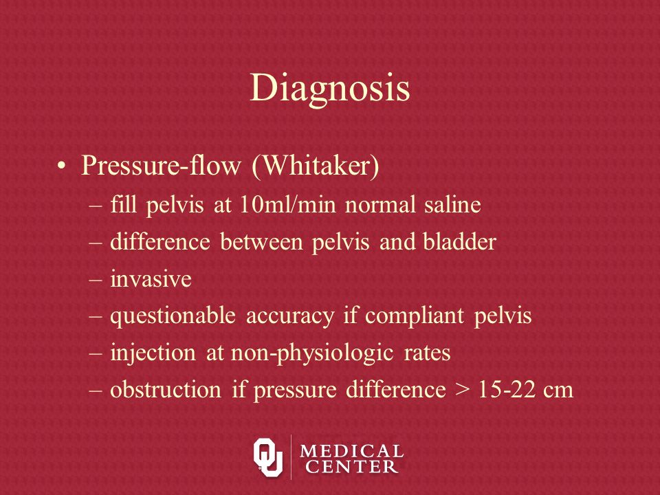 Diagnosis Pressure-flow (Whitaker)