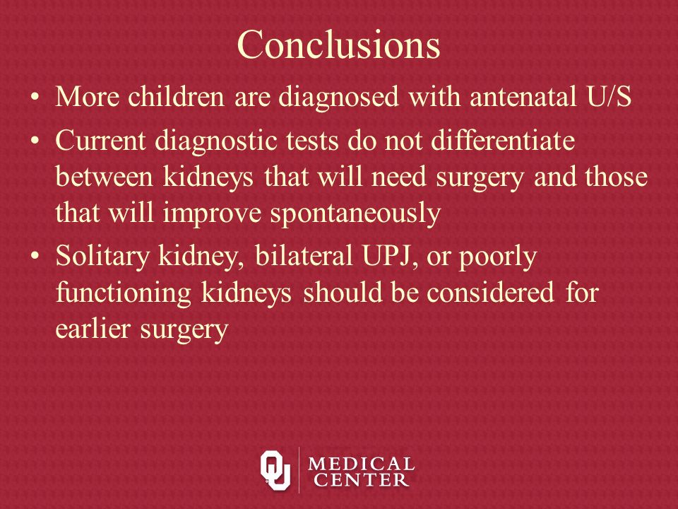 Conclusions More children are diagnosed with antenatal U/S