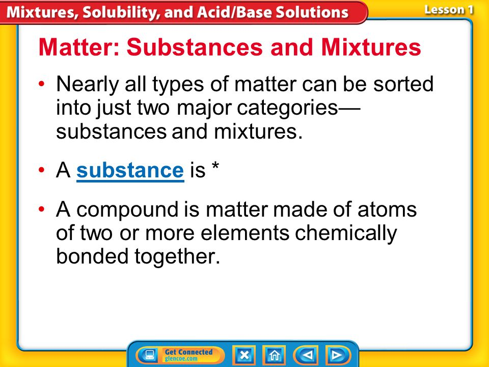 Matter: Substances and Mixtures