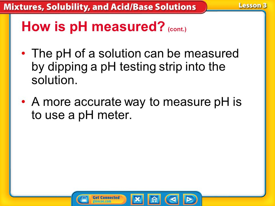 How is pH measured (cont.)