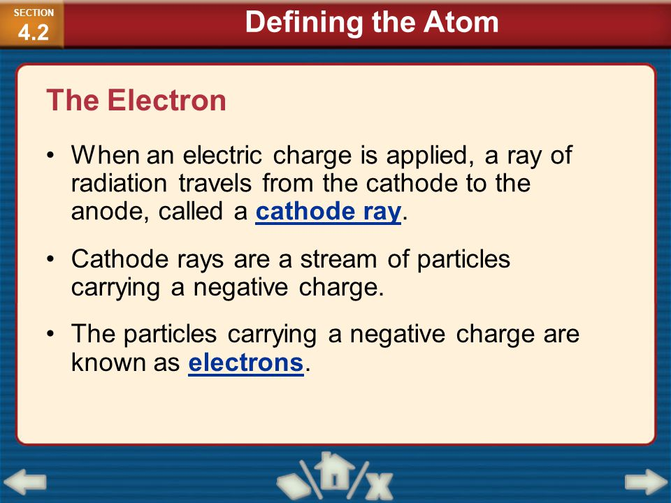 Defining the Atom The Electron