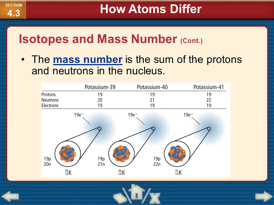 Isotopes and Mass Number (Cont.)