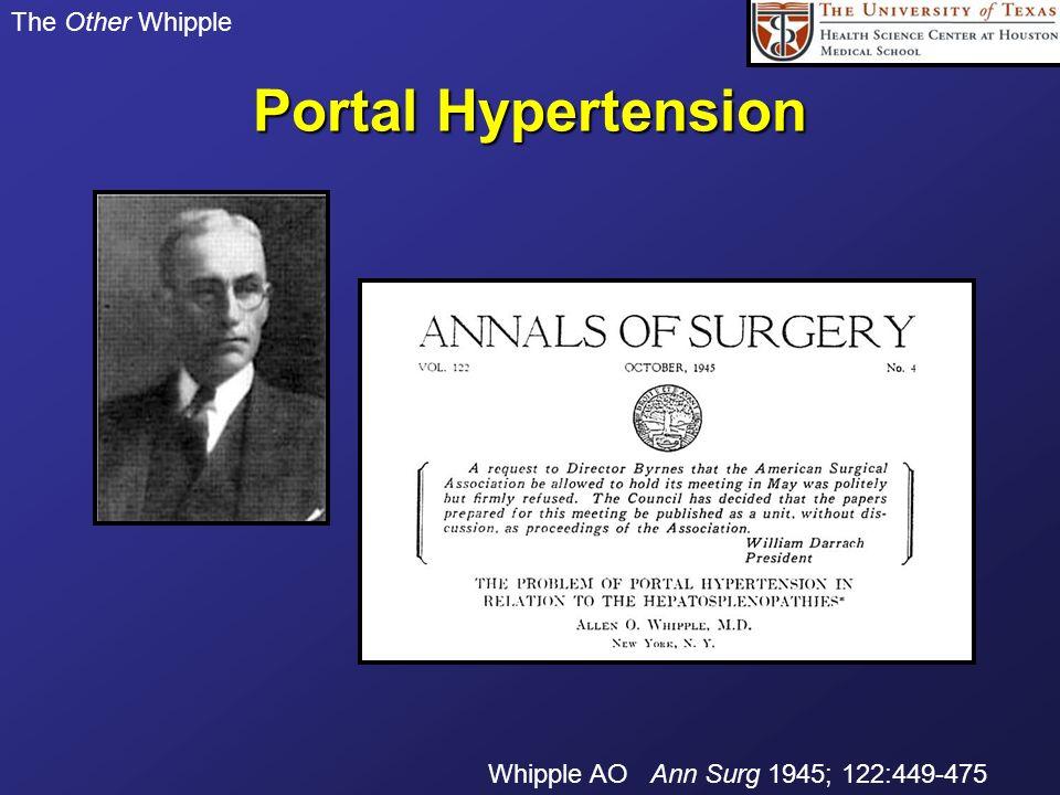 Portal Hypertension The Other Whipple