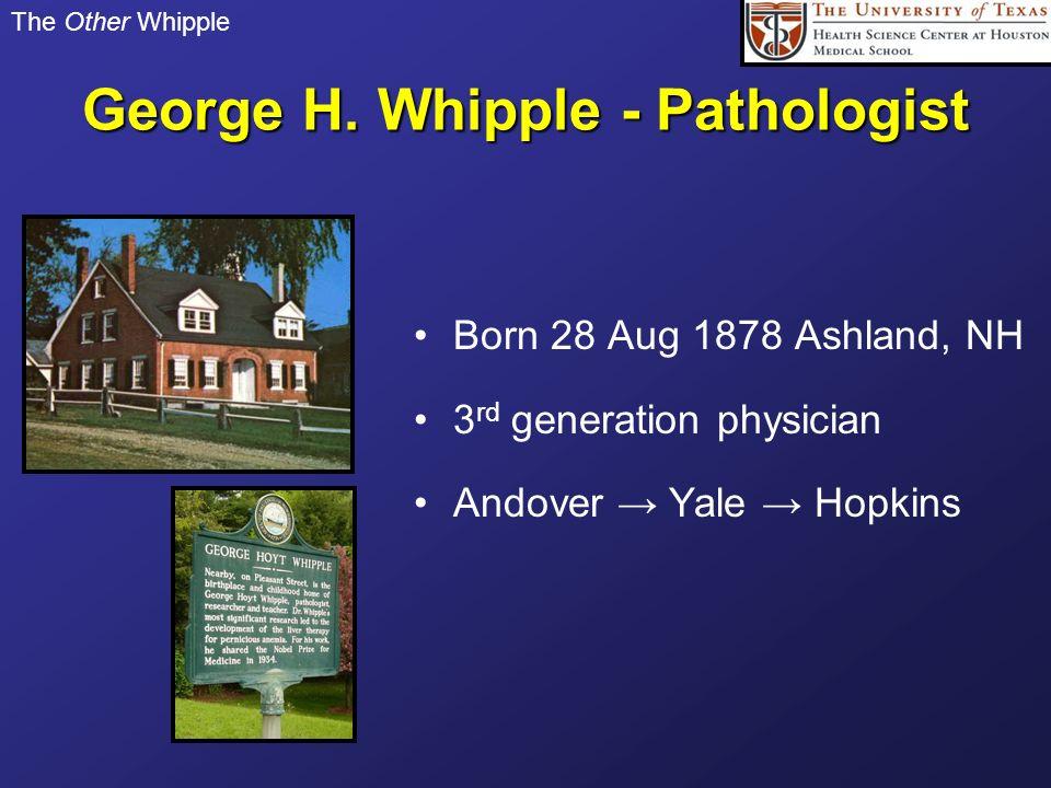 George H. Whipple - Pathologist