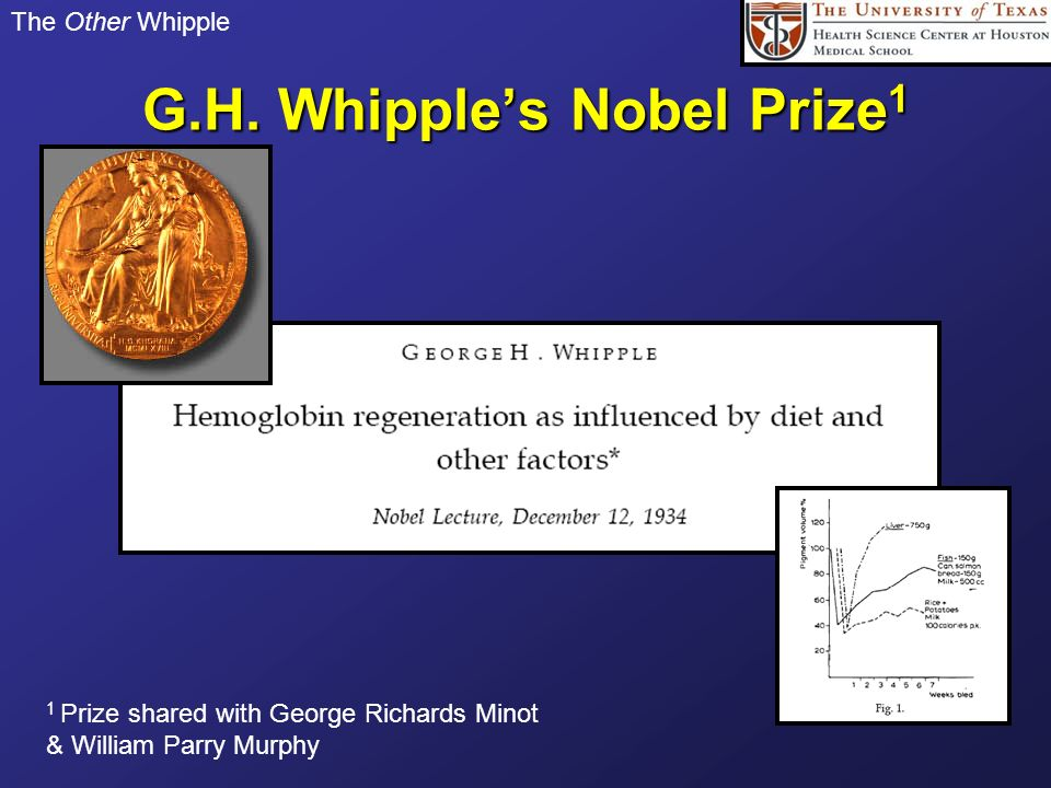 G.H. Whipple's Nobel Prize1