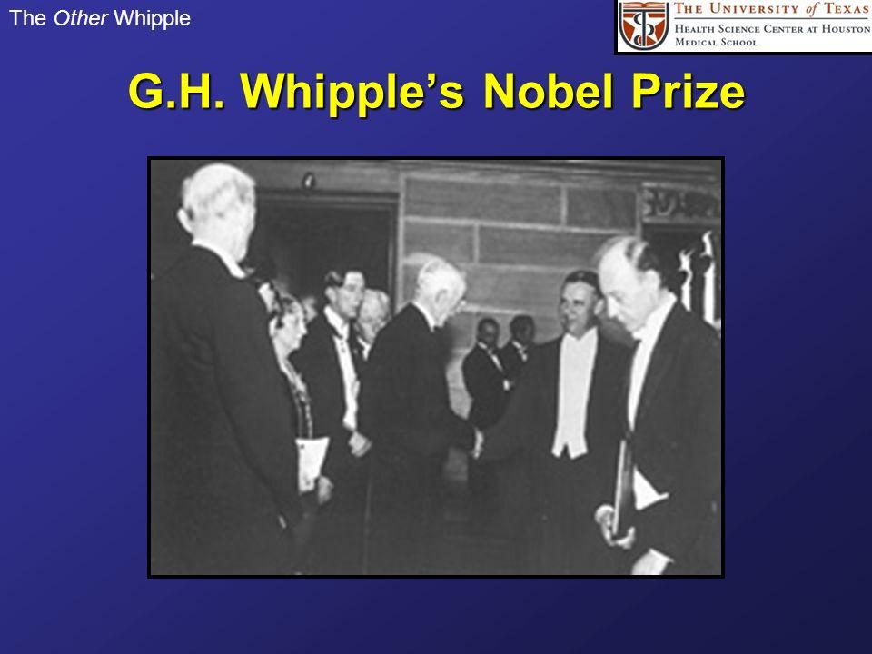 G.H. Whipple's Nobel Prize