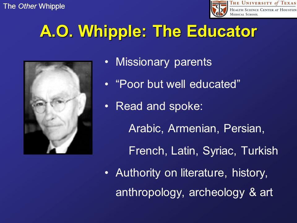 A.O. Whipple: The Educator