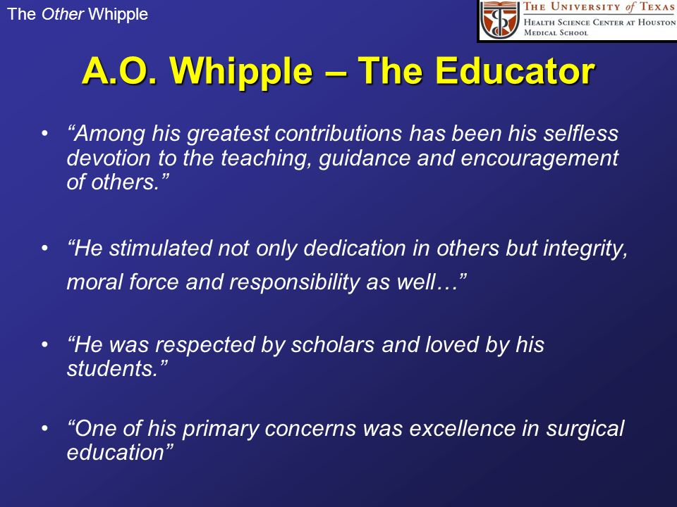 A.O. Whipple – The Educator