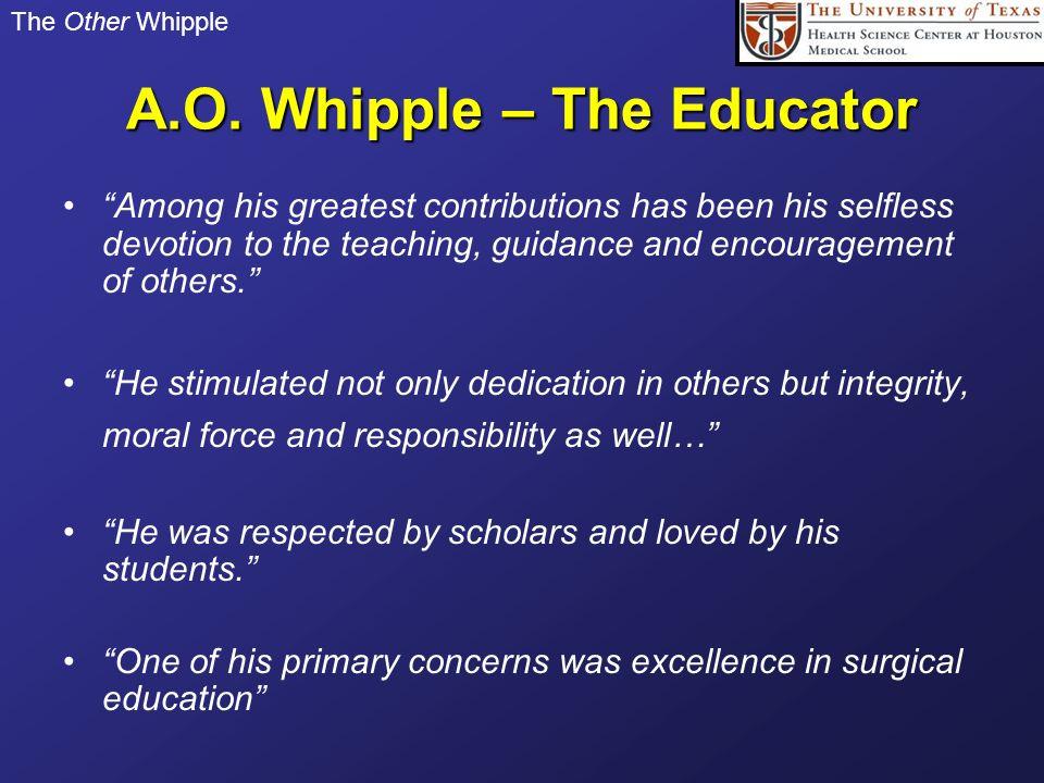 A.O. Whipple – The Educator