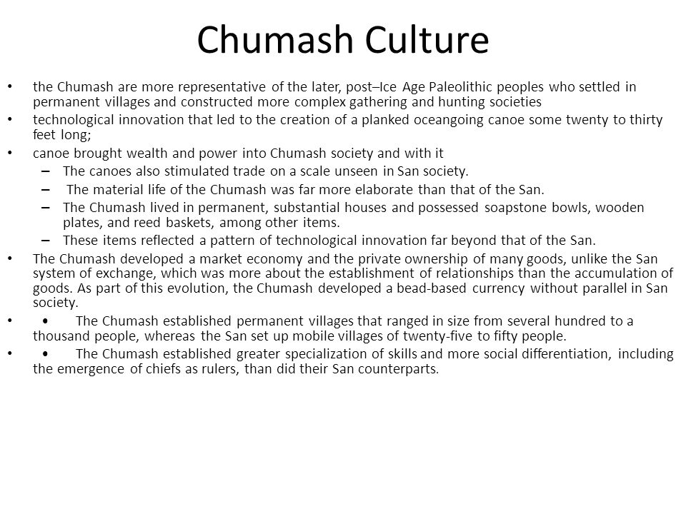 Chumash Culture