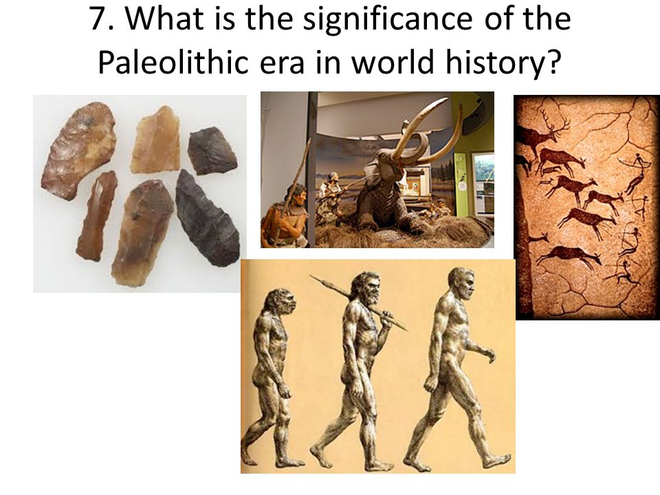 7. What is the significance of the Paleolithic era in world history