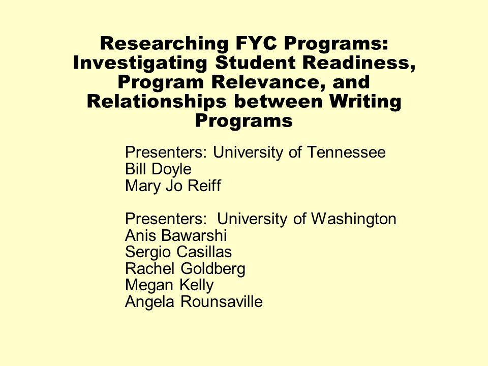 Presenters: University of Tennessee