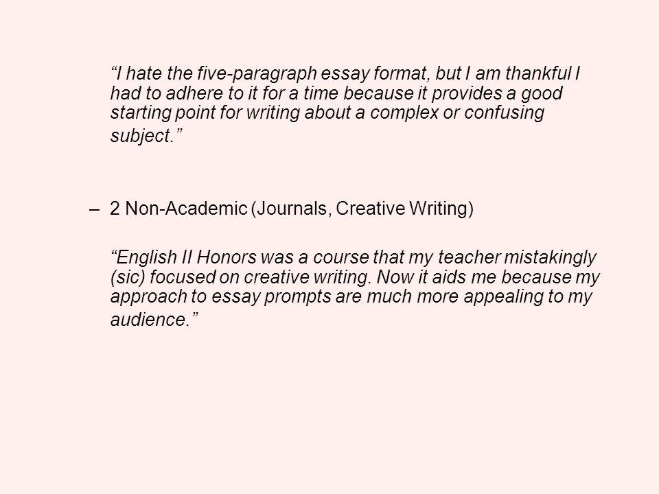 essay formats 5 paragraph