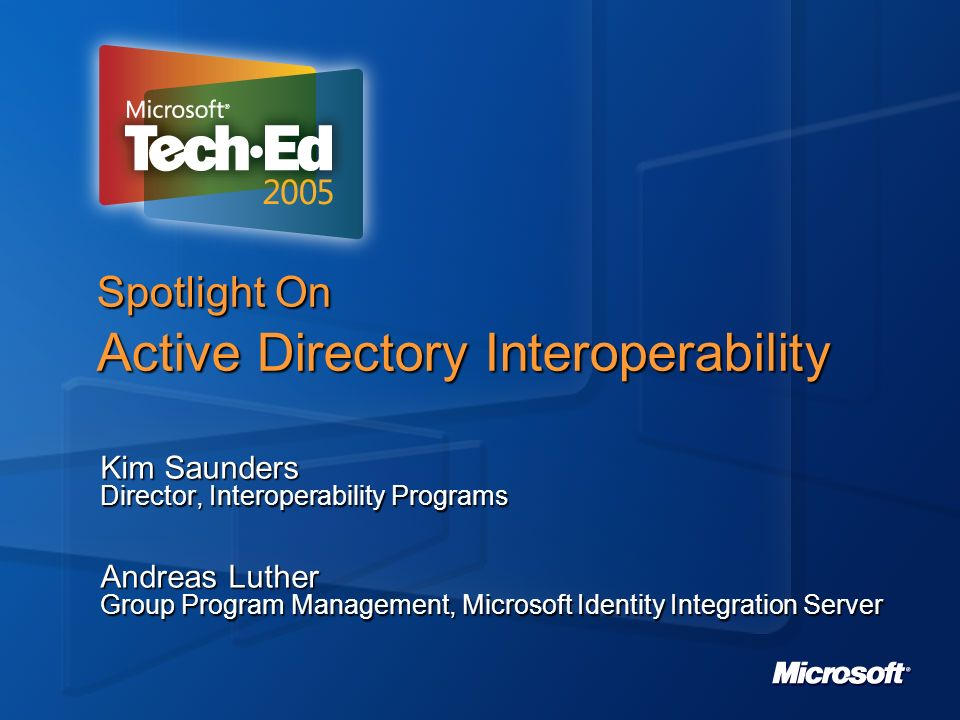 Spotlight On Active Directory Interoperability