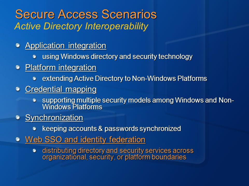 Secure Access Scenarios