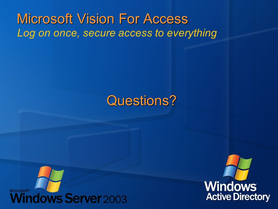 Microsoft Vision For Access