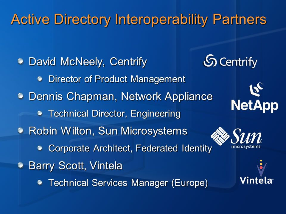 Active Directory Interoperability Partners