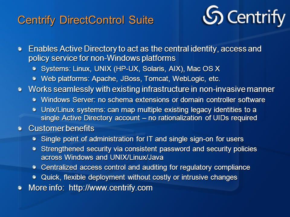 Centrify DirectControl Suite