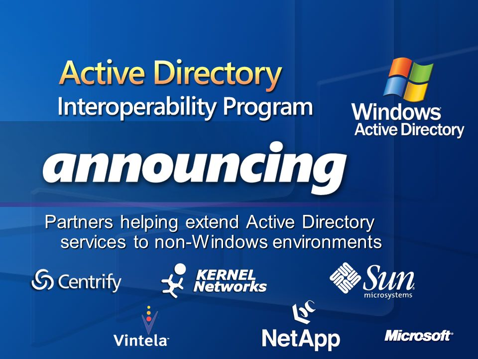 Active Directory Interoperability Program