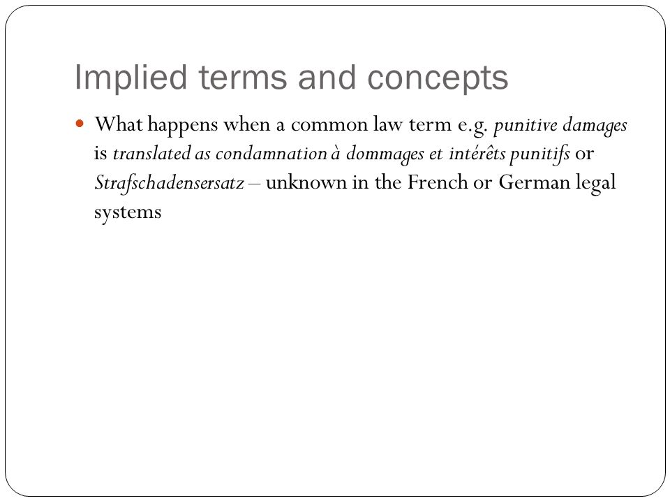 Implied terms and concepts