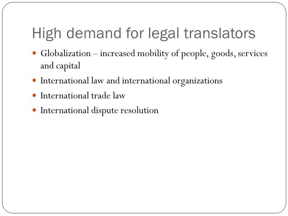 High demand for legal translators