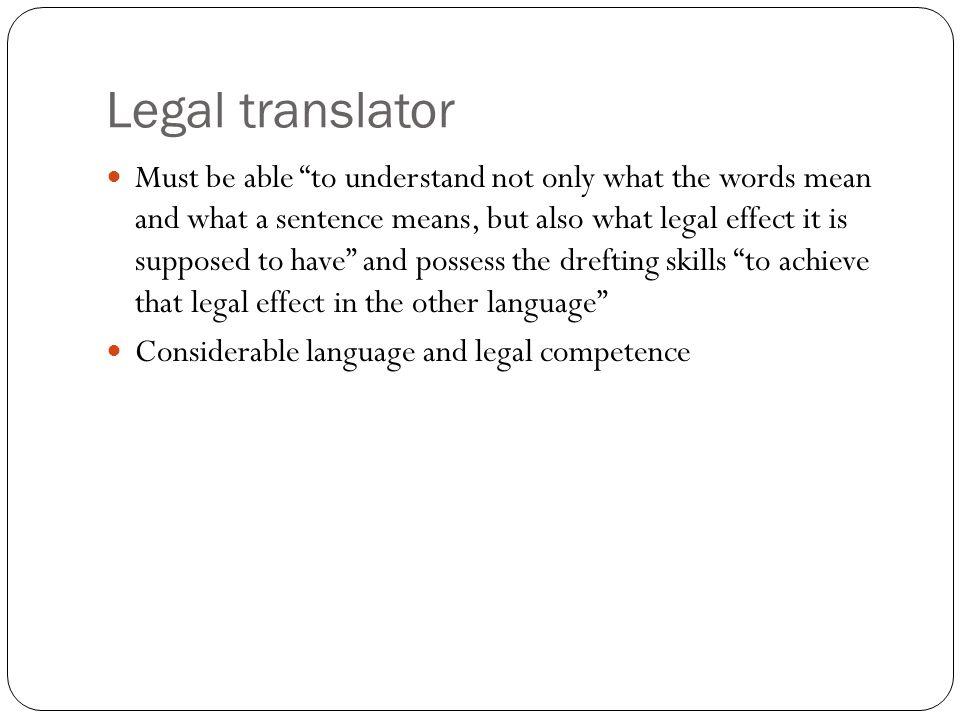 Legal translator