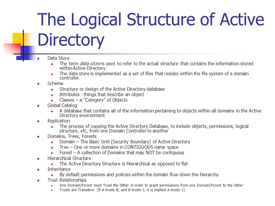 The Logical Structure of Active Directory