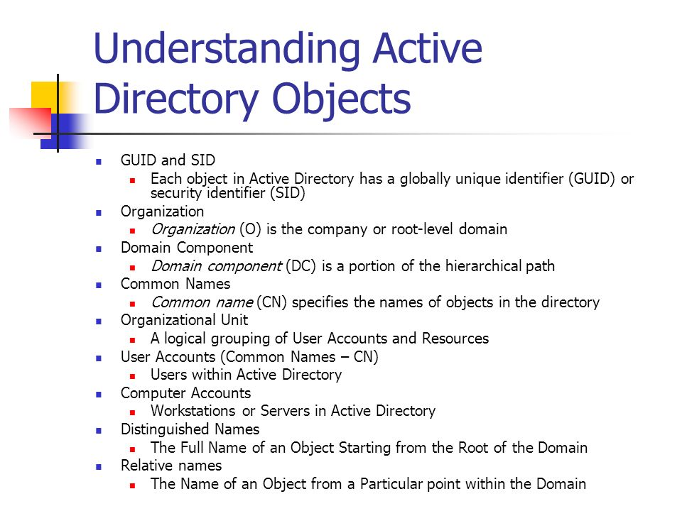 Understanding Active Directory Objects