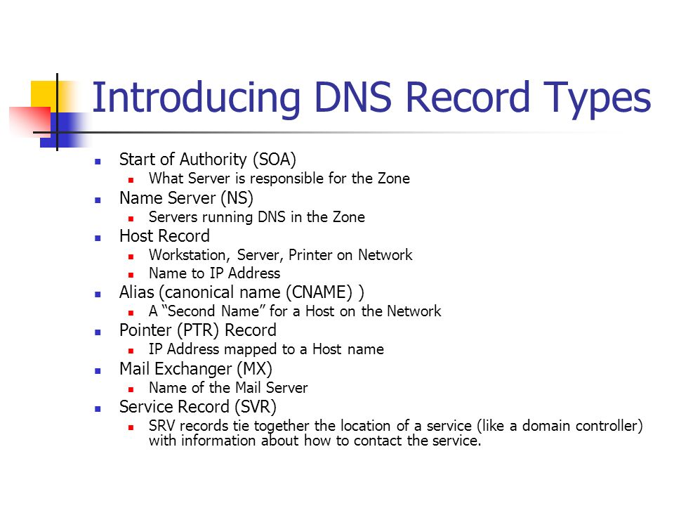 Introducing DNS Record Types