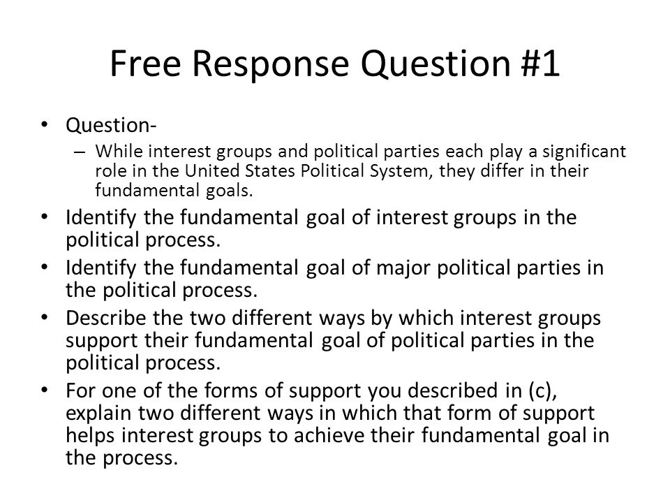 Free Response Question #1