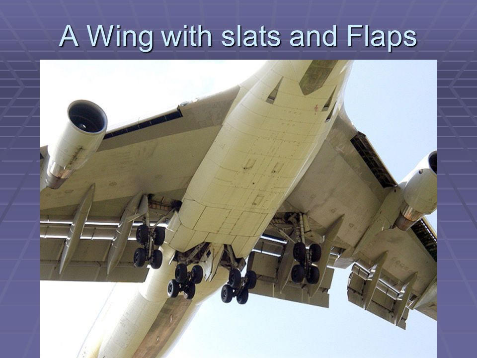 A Wing with slats and Flaps