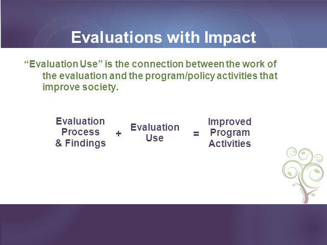 Evaluations with Impact