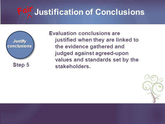 Justification of Conclusions